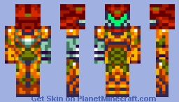 Final Fusion Suit / SA-X (Removable Suit) Minecraft Skin