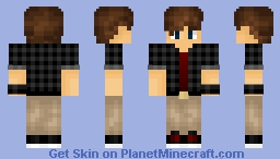 Black Plaid Boy Minecraft Skin