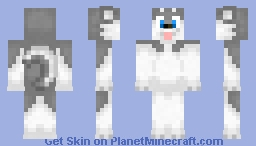 Grey Husky Minecraft Skin