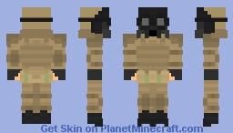 Gasmask Soldier Desert camo Minecraft Skin