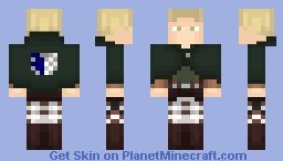 AoT ➢ Reiner Braun ✯Survey Corps Cape✯ Minecraft Skin