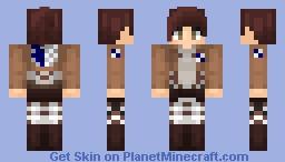 AoT ➢ Sasha Braus ✯Survey Corps✯ Minecraft Skin