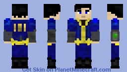 Fallout 4 - Sole Survivor Minecraft Skin