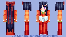 Tsubaki Kasugano - Future Diary [Going on Holiday!!!] Minecraft Skin