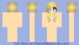 Short Blonde Girl Hair Base Minecraft Skin