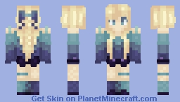 Bluuuee And Puurrple Minecraft Skin