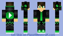 Green YouTube thingy Minecraft Skin