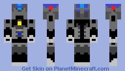 Bionicle Toa Endoskeleton (Tahu Variant) Minecraft Skin