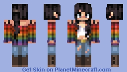 rainbow plaid Minecraft Skin
