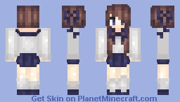 Kawaii Japanese School Girl Minecraft Skin