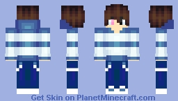 Blue Sweater new Shading Minecraft Skin