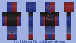 RedBlue ~ Example for Shading Tutorial Minecraft Skin