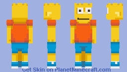 Bart Simpson by Day .... Bartman by Night Minecraft Skin