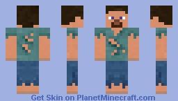 Damaged clothes steve Minecraft Skin