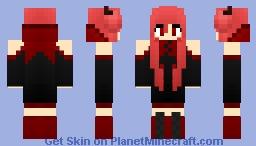 red demon girl minecraft skin