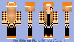Me with an orange flannel! (Brit) Minecraft Skin