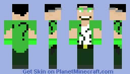 Riddler Arkham Knight Minecraft Skin