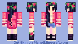 Red Roses Minecraft Skin