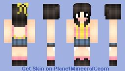 Girl in Yellow Minecraft Skin
