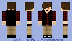 red and black plaid shirt guy Minecraft Skin