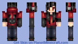 Red and Black Redone - 500 and 600 subs meetup will be rescheduled huehue Minecraft Skin