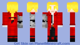 Edward Elric (Fullmetal Alchemist) - 1.8 Minecraft Skin