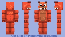 Plushbark | FNAF 4 Fan Made Animatronic (Updated) Minecraft Skin