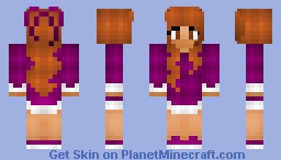Girl in Purple Minecraft Skin