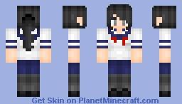 YANDERE CHAN Minecraft Skin - Skins para minecraft de yandere