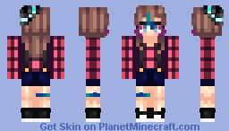 ~Ashlyn~ Hipster love. Minecraft Skin