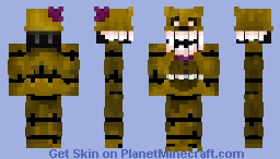 Nightmare Fredbear - MUCH better in 3-D (FNAF 4) Minecraft Skin
