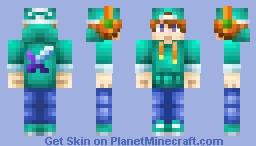 Jake's Turquoise Hood *Remake* Minecraft Skin