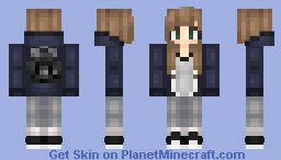 """It's a Paper Town, With Paper People,"" Margo Roth Spiegelman Minecraft Skin"