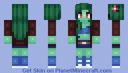 Zombie Girl Minecraft Skin
