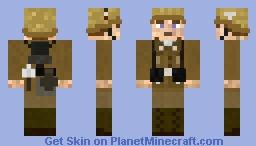 WW2 Wehrmacht Afrika Korps Infanterie Soldat (50st skin special) Minecraft