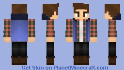 Plaid shirt, Denim Jacket/Hoodie, and Polo Boots. Minecraft Skin