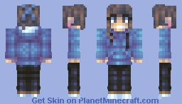 Wow super cute teenage girl skin with very nice outfit and cool smile! Minecraft Skin