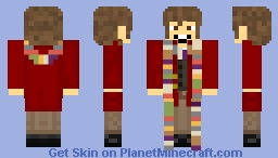 The 4th Doctor Minecraft Skin