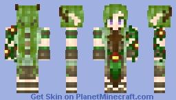 minecraft dryad skin