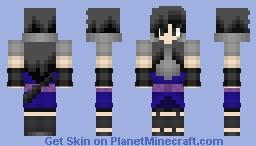 Sasuke Uchiha - Genderbend Minecraft Skin