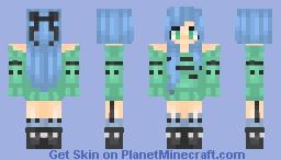 +~+Blue Green+~+ Minecraft Skin