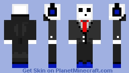 Sky in a Suit Minecraft Skin
