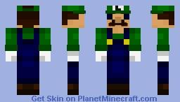 Luigi 8 Bit Minecraft Embed Html