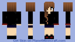 Cute Teen Black Top, Red hand band. [Boy Magnet] Minecraft Skin