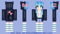 Cat Hoodie~ Minecraft Skin