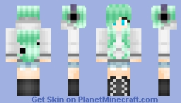 A girl with girl stuff and girl hair and girl clothes Minecraft Skin