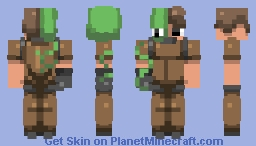 € Over-grown Better in 3D! | Contest Entry (47th, not bad) € Minecraft Skin