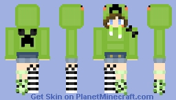 Creeper Girl for Friend Minecraft Skin