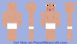 Pedophile in diaper Minecraft Skin