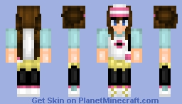 Pokémon Trainer Girl - Black and White 2 Minecraft Skin